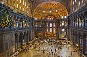 Hagia Sophia interior at Istanbul Turkey - architecture background