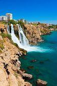 Waterfall Duden at Antalya, Turkey - nature travel background