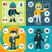 ������, ������: Vector Espionage and Criminal Activity Graphics