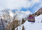 Mountains ski resort Kaprun Austria - nature and sport background