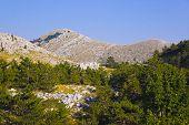 Mountains view at Biokovo, Croatia - nature background