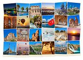 Stack of Turkey travel images - nature and architecture background (my photos)