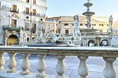 stock photo of shame  - Palermo Piazza Pretoria also known as the Square of Shame Piazza della vergogna - JPG