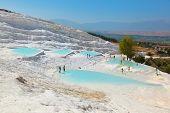 Travertine pools and terraces - Pamukkale Turkey