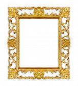 Retro frame isolated on white background