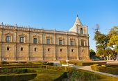 Palace in Seville Spain - nature and architecture background
