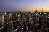 Sunset Over New York, Manhattan