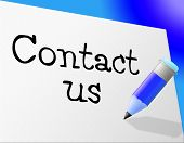 Contact Us Means Send Message And Communicate
