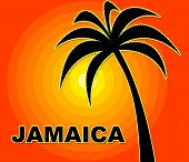 Jamaican Holiday Indicates Go On Leave And Summer