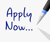 Apply Now Indicates Recruitment Application And Occupation