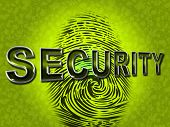 Security Fingerprint Indicates Company Id And Brand