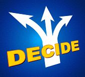 Decide Arrows Indicates Vote Indecisive And Choice