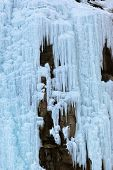 Ice wall at mountains ski resort Bad Gastein - nature background