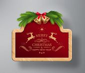 Vector Christmas Frame Background