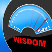 Wisdom High Indicates Intelligence Education And Lots