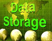 Data Storage Represents Hard Drive And Archive