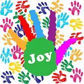 Kids Joy Means Watercolor Positive And Colors