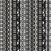 Seamless Pattern With Tribal Ornaments For Wrapping Paper, Textile, Packaging