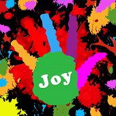 Kids Joy Shows Happiness Multicoloured And Color