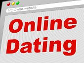 Online Dating Represents World Wide Web And Date