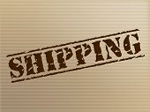 Shipping Stamp Indicates Package Imprint And Mark