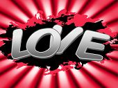 Love Sign Represents Compassionate Devotion And Signboard