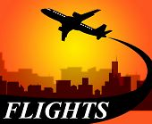 Flights Plane Shows Go On Leave And Aeroplane