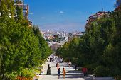 Street at Granada Spain - architecture background