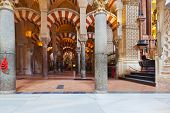 Great Mosque Mezquita interior in Cordoba Spain - religion architecture background