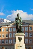 stock photo of mozart  - Mozart statue in Salzburg Austria  - JPG