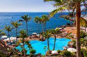 Pool at Tenerife island - Canary Spain