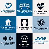 Cinema Icons Vector Set