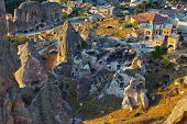 Cappadocia Turkey at sunset - travel background