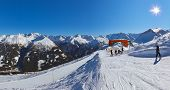 Mountains ski resort Bad Gastein Austria - nature and sport background