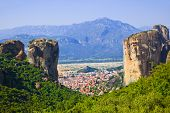 Meteora monastery in Greece - travel background