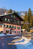 Mountains ski resort St. Gilgen Austria - architecture background