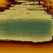 Retro texture. With yellow, brown, green patterns