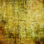 Art grunge vintage textured background. With yellow, brown, green patterns