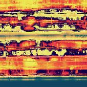 Designed grunge texture or background. With red, blue, orange, yellow patterns