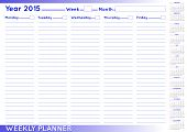Weekly Planner English