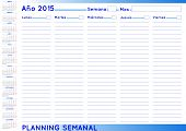 Weekly Planner Spanish