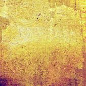 Old texture with delicate abstract pattern as grunge background. With yellow, brown, orange patterns