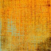 Grunge aging texture, art background. With yellow, orange, green patterns