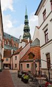 Riga, Narrow Street In Old City