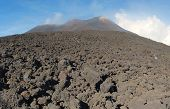 Etna summit craters of south-east panorama, Sicily