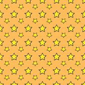 Seamless pattern. Repeating hand drawn stars background