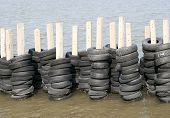 Rubber Tires Wall For Breakwater
