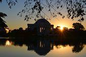 Washington DC - Jefferson Memorial silhouette at sunrise