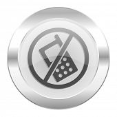 no phone chrome web icon isolated