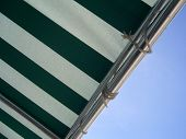 pic of awning  - green and white awning from nassau bahamas - JPG